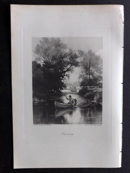 Aflalo 1898 Antique Print. Canoeing